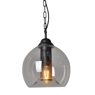 Y-Decor Black Metal and Glass 1-light Pendant Light