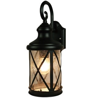 Y-Decor 1 Light Outdoor Wall Mounted light in Sandy Black Finish