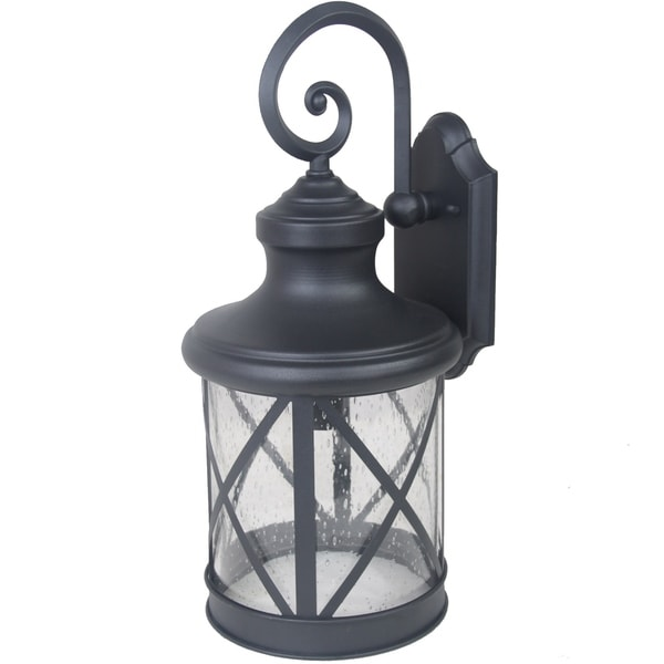 Y Decor 1 Light Outdoor Wall Mounted Light In Sandy Black Finish