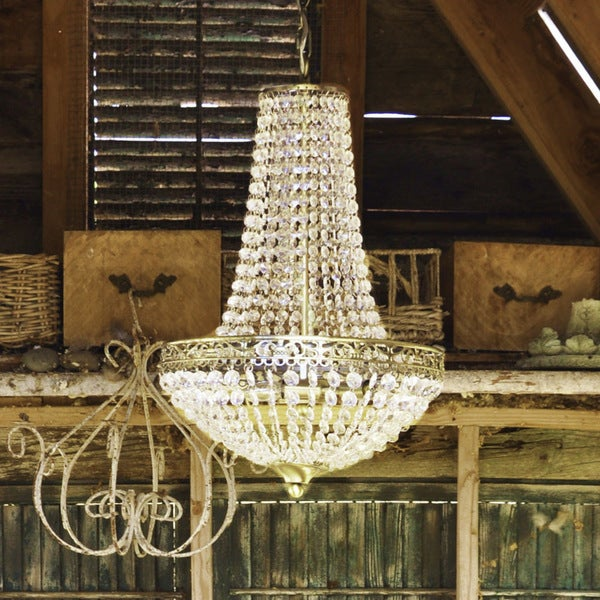 River of Goods Poetic Wanderlust Cheyenne Crystal/Metal 3-light Chandelier