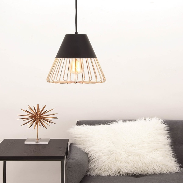 Urban Designs Copper Accents Metal Hanging Pendant Light
