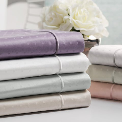 Sleep Like A King 100% Cotton 700 Thread Count Swiss Dot Jacquard Sheet Set Designed by Larry and Shawn King
