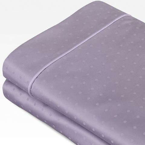 Sleep Like A King 100% Cotton 700 Thread Count Swiss Dot Jacquard Bed Sheet Set Designed by Larry and Shawn King