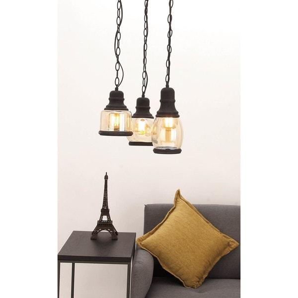 Urban Designs Euro Glass Hanging Pendant Ceiling Light