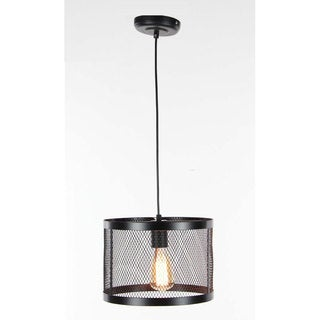 Benzara Modish Iron Hanging Lamp with 1 Bulb