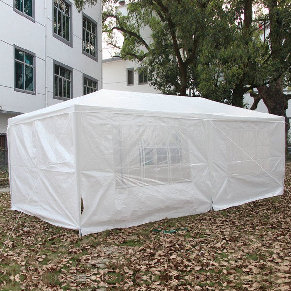 3 x 6m Six Sides Two Doors Waterproof Foldable Tent White