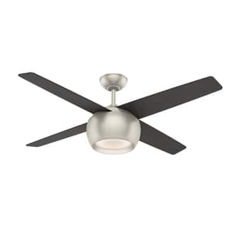 Casablanca ceiling fans for less overstock casablanca valby matte nickel 54 inch fan with 4 black oakeastern walnut reversible aloadofball Images