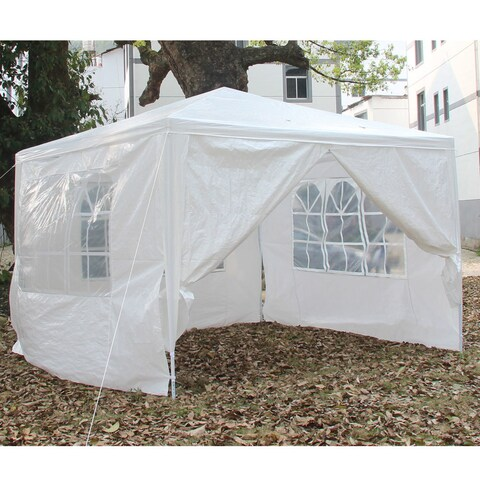 3 x 3m Four Sides Portable Home Use Waterproof Folding Tent White