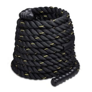 "2"" x 40ft Professional Lightweight Fitness Rope Black & Golden Edge"