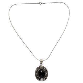 Onyx Pendant Necklace Tradition India 7 6 X 9 6