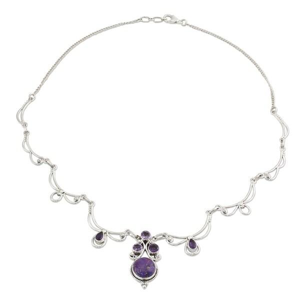 2d30a12994139 Shop Amethyst Pendant Necklace, 'Radiant Princess In Purple' (India ...