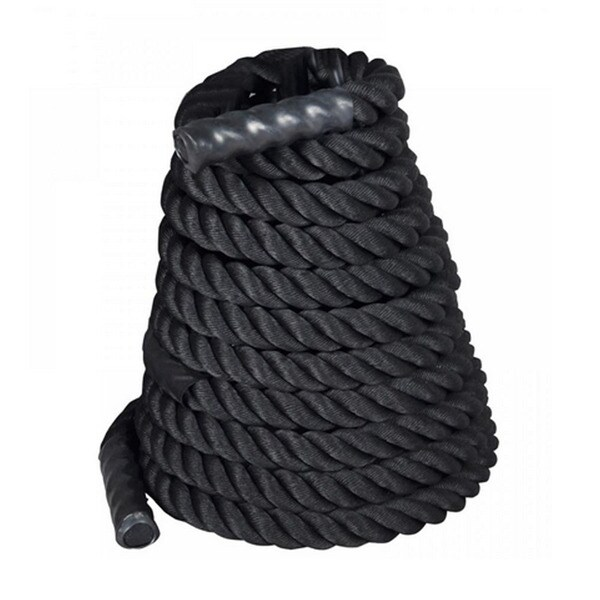"""2"""" x 50ft Professional Lightweight Fitness Rope Black"""