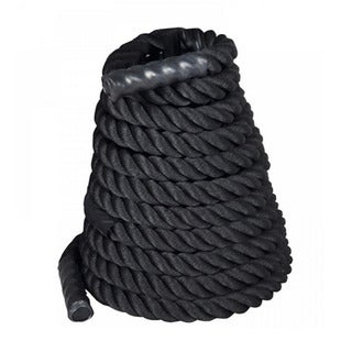 "2"" x 50ft Professional Lightweight Fitness Rope Black"