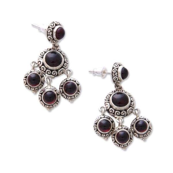 Garnet Chandelier Earrings X27