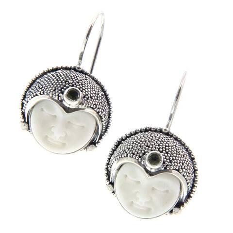 Peridot Drop Earrings, 'Royal Lady' (Indonesia)