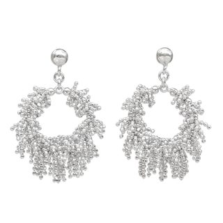 Sterling Silver Dangle Earrings, 'Snow Again' (Thailand)
