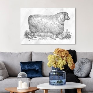Oliver Gal 'Sheep in Silver' Canvas Art