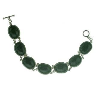 Jade Link Bracelet, 'Yaxha Shadows' (Guatemala)