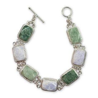 Jade Link Bracelet, 'Maya Beauty' (7.25 Inch) (Guatemala)