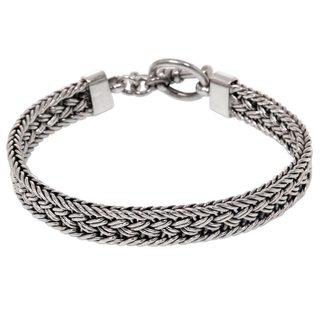 Sterling Silver Bracelet, 'Tukad Pakerisan' (Indonesia)