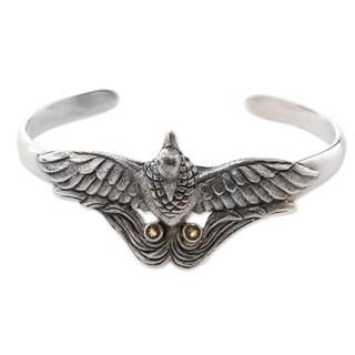 Citrine Cuff Bracelet, 'Bird of Paradise' (Indonesia)