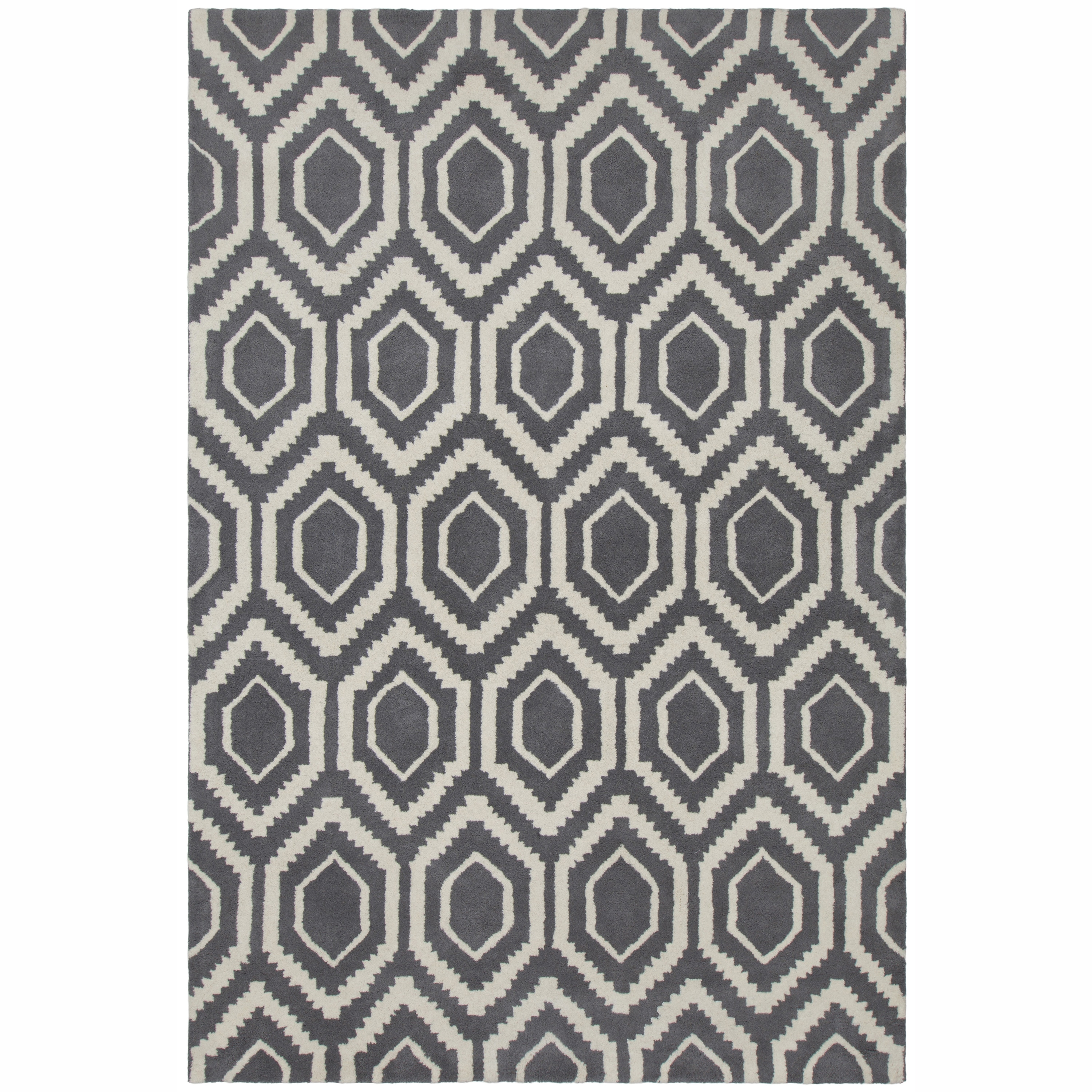 Artist's Loom Hand-tufted Contemporary Abstract Pattern G...