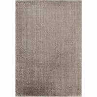 Artist's Loom Hand-tufted Contemporary Solid Pattern Silver Rug (5'x7')