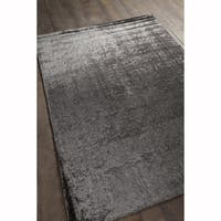 Artist's Loom Hand-tufted Contemporary Solid Pattern Grey Rug (5'x7')