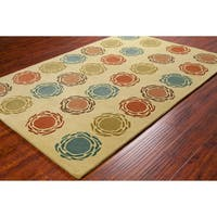 "Artist's Loom Hand-tufted Contemporary Geometric Wool Rug (5'x7'6"")"