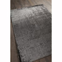 Artist's Loom Hand-tufted Contemporary Solid Pattern Grey Rug (7'x10')