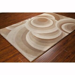 Artist's Loom Hand-tufted Contemporary Geometric Wool Rug (8'x10')