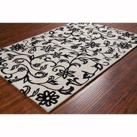 Artist's Loom Hand-tufted Transitional Floral Wool Rug (8'x10')