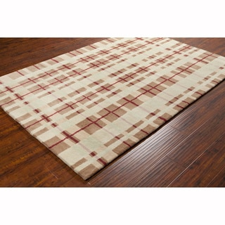 Artist's Loom Hand-tufted Contemporary Geometric Wool Rug (8'x10')