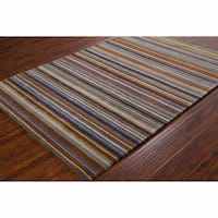 Artist's Loom Hand-tufted Contemporary Stripes Wool Rug (8'x10')