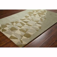 Artist's Loom Hand-tufted Transitional Abstract Wool Rug (8'x10')