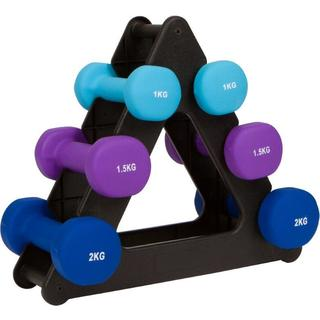 20-Lb. Dumbell Set with Foldable Rack - Neoprene - by Trademark Innovations