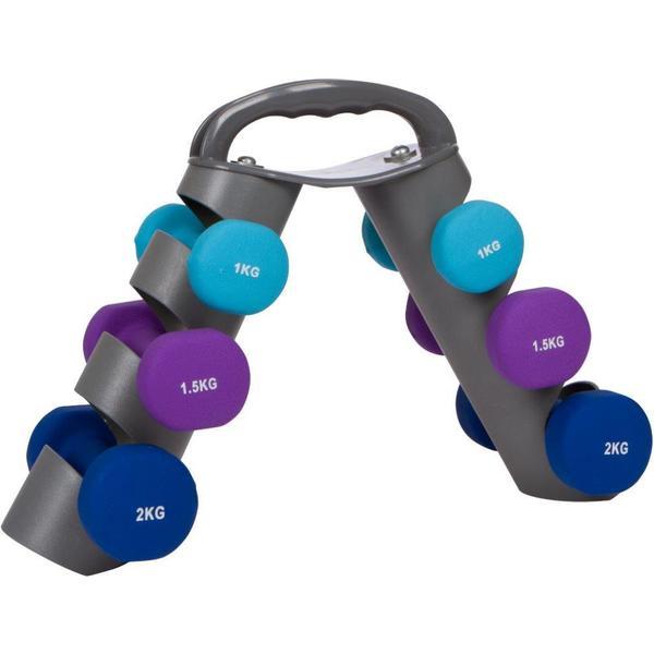 20-Lb. Neoprene Dumbell Set with Rack by Trademark Innovations