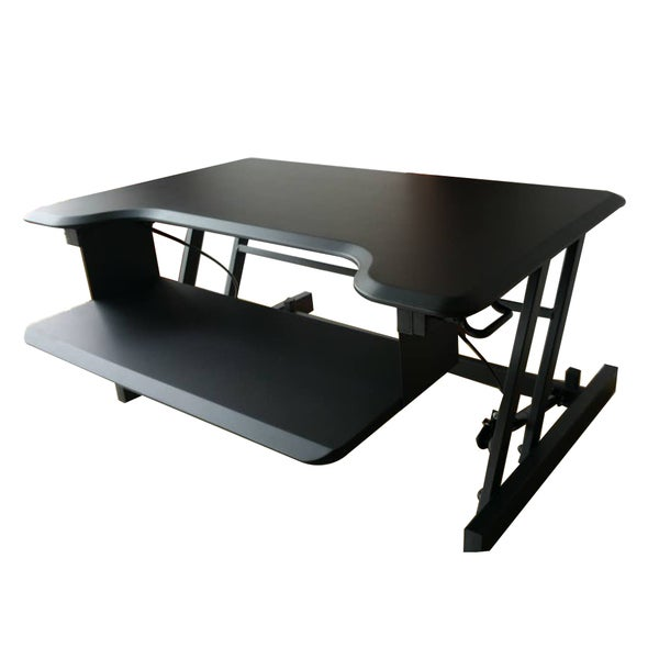 shop soges standing desk 31 9 desk converter standup desks monitor stand workstation sit stand. Black Bedroom Furniture Sets. Home Design Ideas