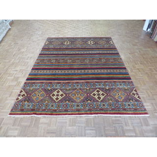 Super Kazak Multi Color Wool Hand-knotted Oriental Rug (8' x 10'9)