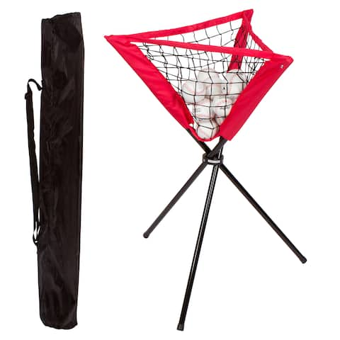 Portable Batting Ball Caddy with Carry Bag for Baseball & Softball Practice by Trademark Innovations