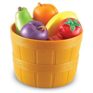 Learning Resources New Sprouts Plastic Bushel of Fruit