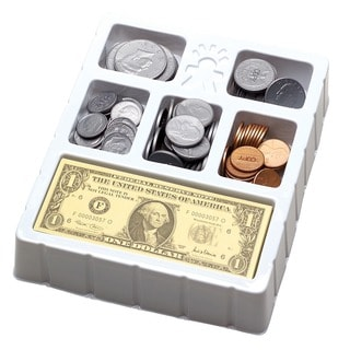 Educational Insights Play Money - Coins & Bills Tray