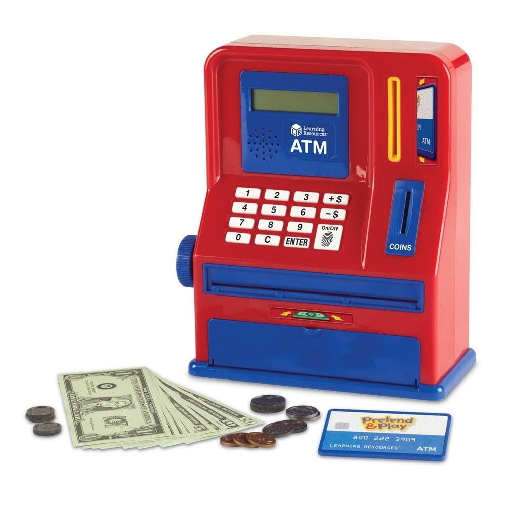 Learning Resources Pretend and Play Teaching ATM Bank (Pr...