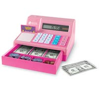 Learning Resources Pretend & Play Calculator Cash Register, Pink