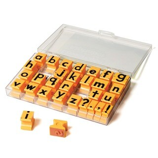 Educational Insights Rubber 5/8-inch Lowercase Alphabet Stamps