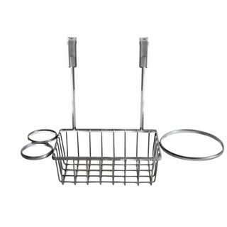 Over the Cabinet Chrome Finish Metal Hairstyling Organizer