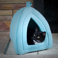 PETMAKER Cozy Kitty Tent Igloo Plush Cat Bed
