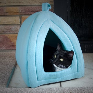 Link to PETMAKER Cozy Kitty Tent Igloo Plush Cat Bed Similar Items in Dog Beds & Blankets