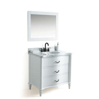 Legion Furniture 36-inch Sink Vanity with Faucet and 24-inch Mirror