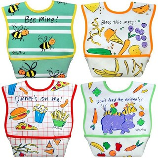 Dexbaby Large Waterproof Dura-Bib 4-Pack